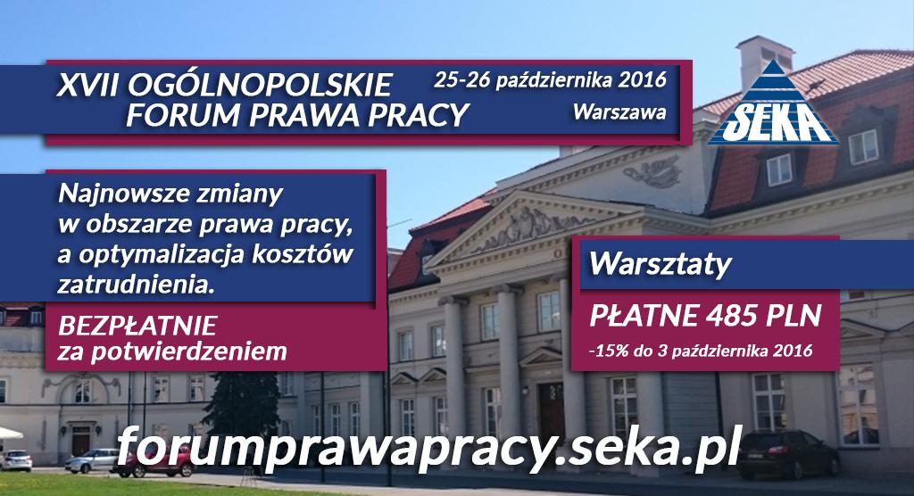 XVII Ogólnopolskie Forum Prawa Pracy