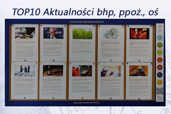 TOP10 Aktualności bhp, ppoż., oś. – październik 2016
