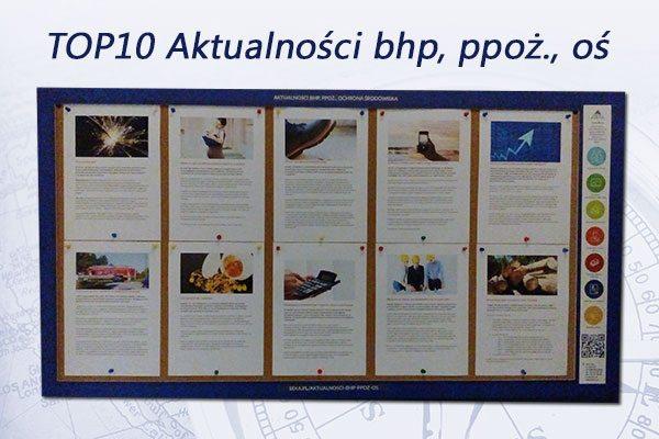 TOP10 Aktualności bhp, ppoż., oś. – listopad 2016