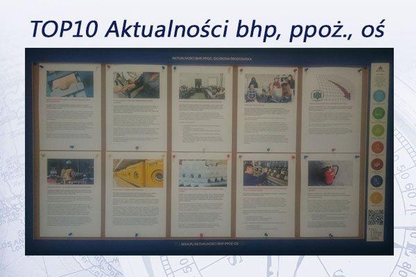 TOP10 Aktualności bhp, ppoż., oś. – grudzień 2016