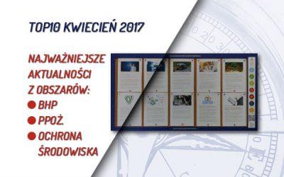 TOP10 AKTUALNOŚCI BHP, PPOŻ., OŚ. – KWIECIEŃ 2017