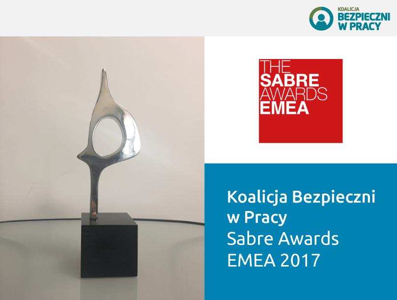 Koalicja Bezpieczni w Pracy nagrodzona prestiżową statuetką SABRE Awards EMEA 2017