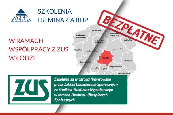 Szkolenia BHP finansowane przez ZUS w Łodzi