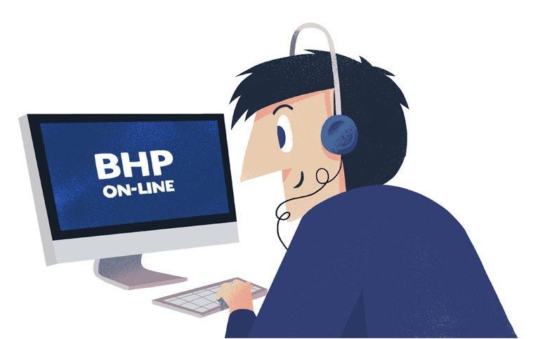 BHP on-line