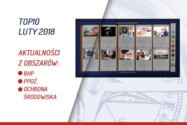 TOP10 AKTUALNOŚCI BHP, PPOŻ., OŚ. – LUTY 2018