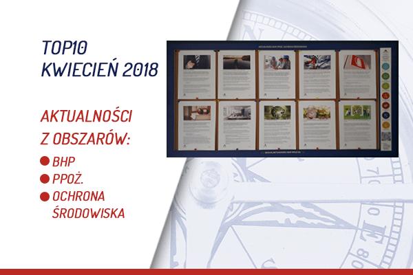 TOP10 AKTUALNOŚCI BHP, PPOŻ., OŚ. – KWIECIEŃ 2018