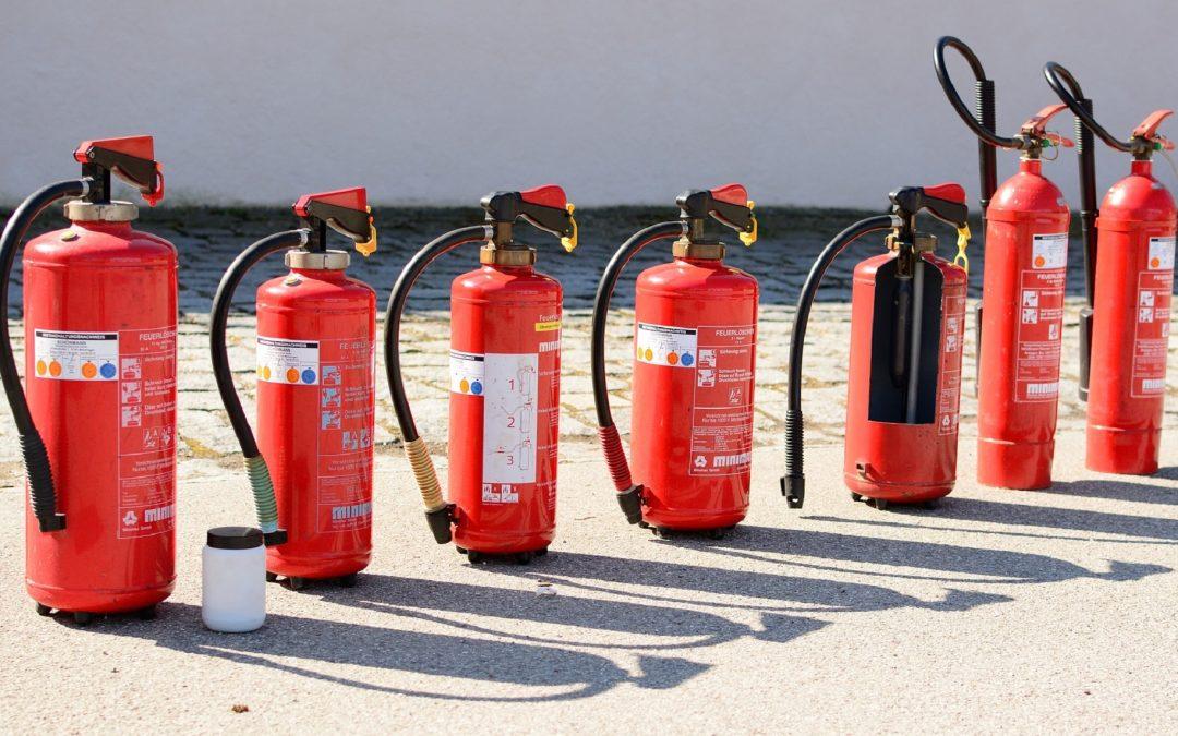 Sprzęt gaśniczy w poszczególnych typach zakładów pracy