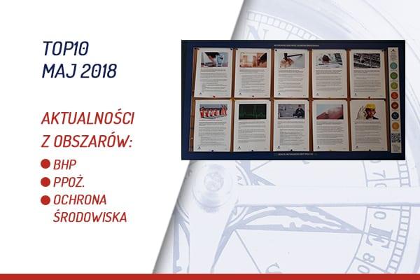 TOP10 AKTUALNOŚCI BHP, PPOŻ., OŚ. – MAJ 2018