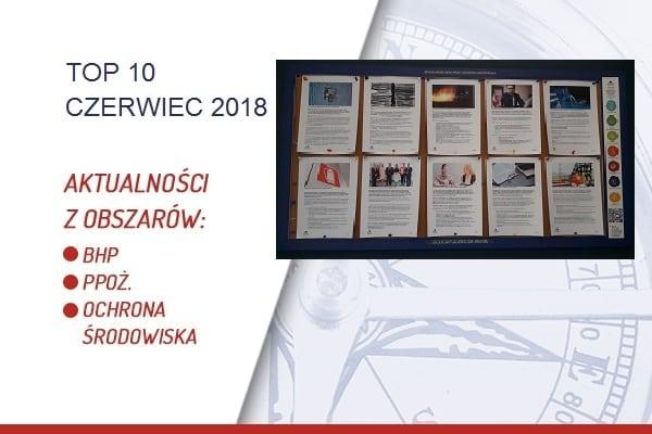 TOP10 AKTUALNOŚCI BHP, PPOŻ., OŚ. – CZERWIEC 2018