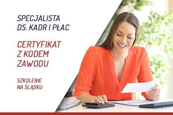Kadry i płace certyfikat księgowego na Śląsku