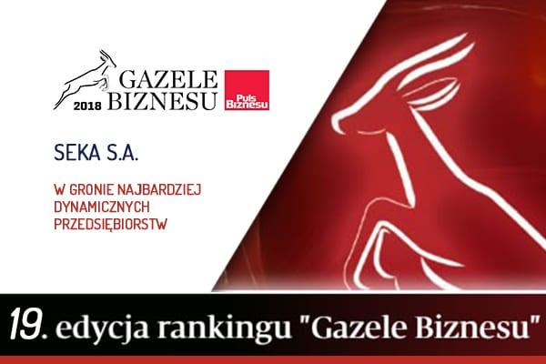 Gazele Biznesu SEKA S.A. laureatem 19-stej edycji