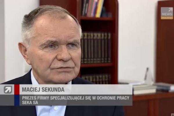 Wypowiedź Macieja Sekundy prezesa SEKA S.A. dla Polsat News
