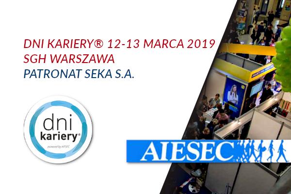 "Targi Pracy ""Dni Kariery"" 12-13 marca 2019 SGH Warszawa"