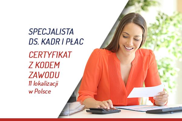 Kadry i płace certyfikat z kodem zawodu