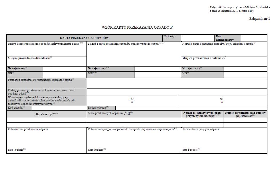 Od 1 maja 2019 r. obowiązują nowe wzory KPO i KEO