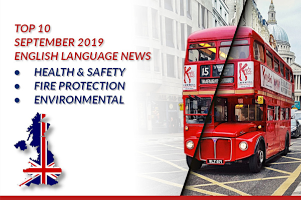 Top10 NEWS on health and safety fire protection environmental protection