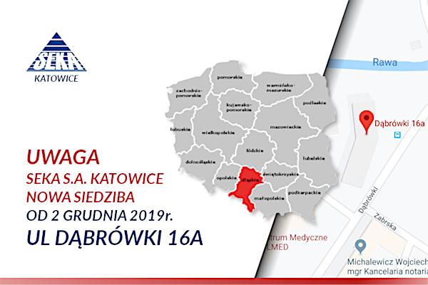 Nowa siedziba oddziału SEKA S.A. w Katowicach