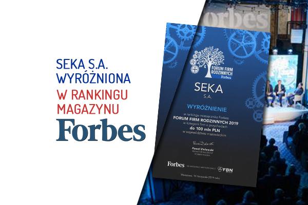 Wyróżnienie dla SEKA S.A. od Forbes