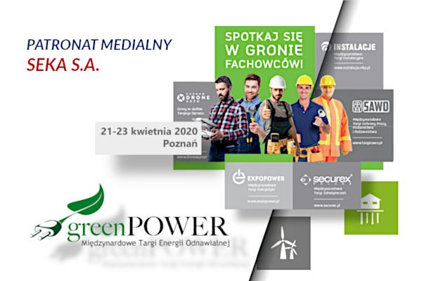 Targi Greenpower – patronat medialny SEKA S.A.