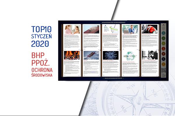 TOP10 AKTUALNOŚCI BHP, PPOŻ., OŚ. – Styczeń 2020