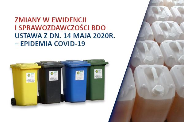 Zmiany w ewidencji i sprawozdawczości BDO – epidemia COVID-19