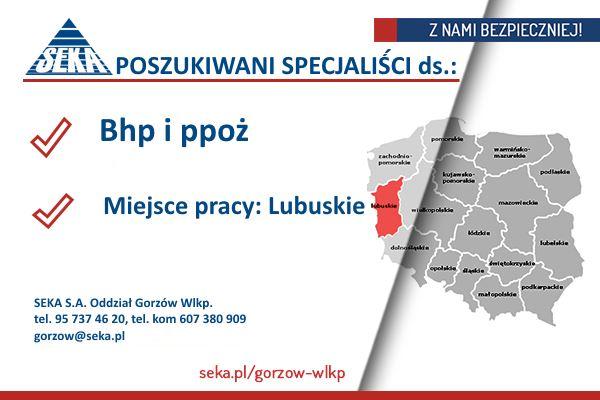 POSZUKIWANY SPECJALISTA ds. BHP i PPOŻ – Gorzów Wlkp.