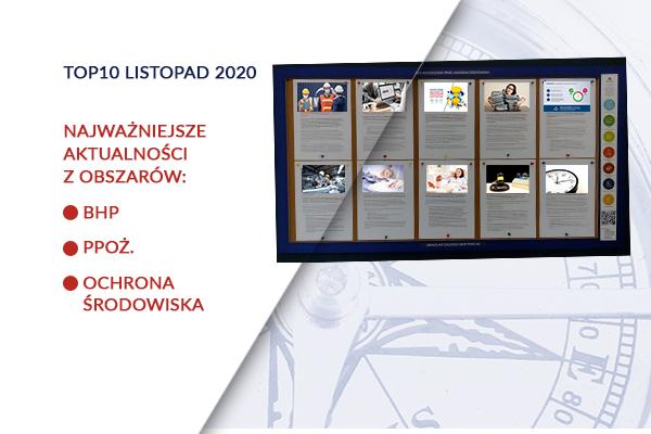 TOP10 AKTUALNOŚCI BHP, PPOŻ., OŚ. – listopad – 2020
