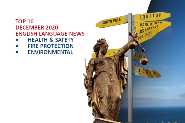 Top10 NEWS on health and safety fire and environmental protection December 2020