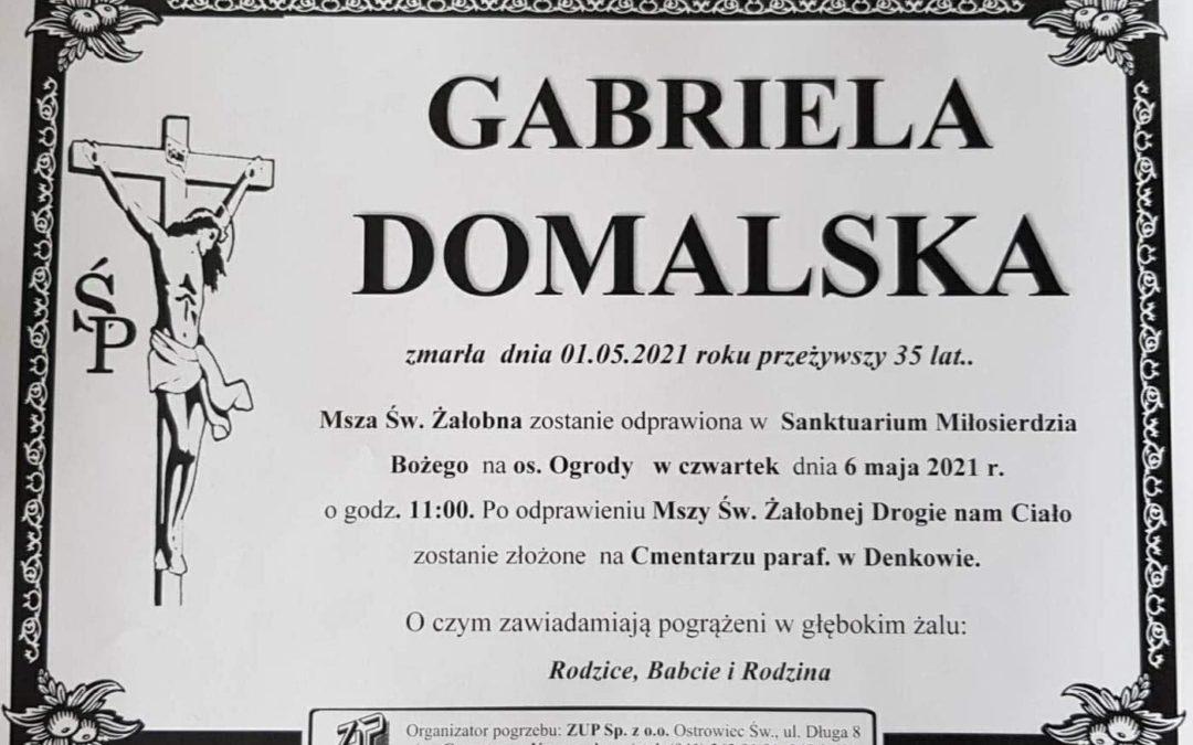 Nekrolog Gabriela Domalska